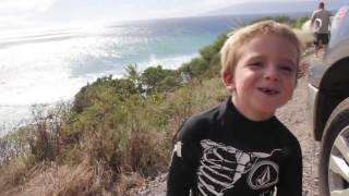 Download Youngest kid to surf Honolua Bay...Baby Steve Roberson 4 years old! Sept. 23rd 2012 Video