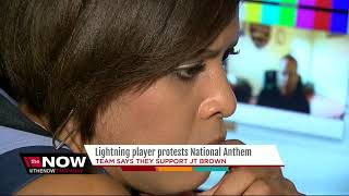 Download Lightning player protests National Anthem, the team says they support JT Brown Video
