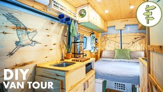 Download VAN TOUR | Tons of Smart Ideas in this Spectacular Conversion | Our VANLIFE Tiny Home Video