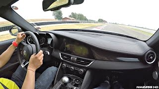 Download Alfa Romeo Giulia Quadrifoglio POV Ride @ Track - OnBoard Engine Sound Video