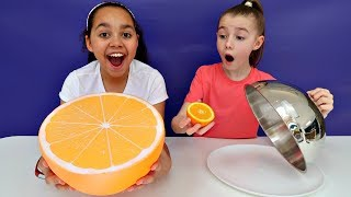 Download Giant Squishy Food VS Real Food Challenge | Toys AndMe Video