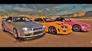 Download Forza Horizon 3 Online - Supra VS Skyline GT-R R34 VS S2000 - Velozes & Furiosos Video