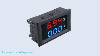 Download DC 100V 10A Voltmeter Ammeter Blue + Red LED Digital Volt Meter Video
