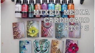 Download Cardboard Junk ATC's Mixed Media Art Tutorial Video