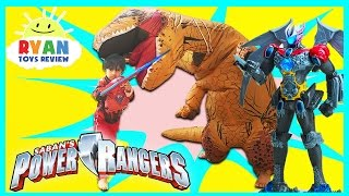 Download POWER RANGER MOVIE TOYS MEGAZORD Surprise Toys Hunt Giant Life Size Dinosaur Attack Pretend Play Video