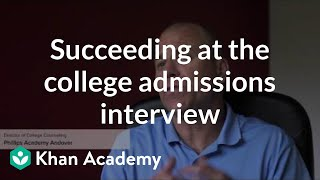 Download Succeeding at the college admissions interview Video