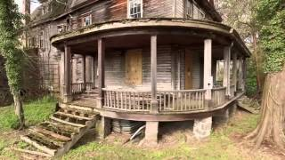 Download Abandoned house in the woods with old cars Video