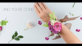Download EASY DIY Wrist Corsage by Flower Moxie ~SUPER FAST TUTORIAL~ Video