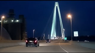 Download 15-42 St Louis: I-70 East at Night Video