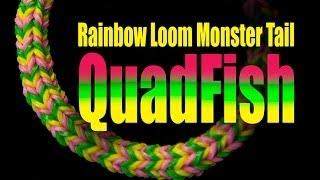 Download Rainbow Loom Monster Tail - QUADFISH Video