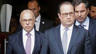 Download President Hollande speaks of ″severe Islamist threat″ following priest murder Video