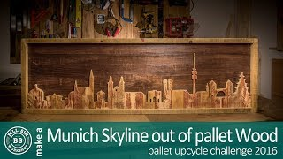 Download Munich skyline made from pallet wood / Pallet upcycle challenge 2016 Video