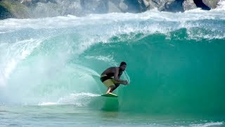 Download Raw Footage of Professional Skimboarder Catching Perfect Waves at The Wedge in Newport Beach, CA Video