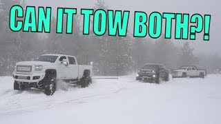 Download MY SEMA TRUCK RESCUING TRUCKS IN THE SNOW! Video