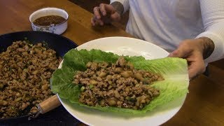 Download how to make CHICKEN LETTUCE WRAPS and SPECIAL SAUCE Video