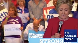Download Hillary Clinton supporter falls asleep during Florida rally Video