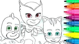Download ROTULADORES MÁGICOS DE LOS PJ MASKS O HÉROES EN PIJAMAS CON DIBUJOS SORPRESA. color wonder PJ Masks. Video