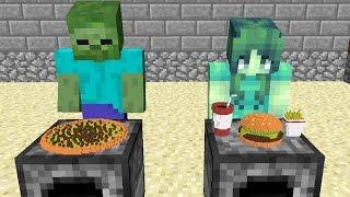 Download Monster School: Girls vs Boys Cooking Challenge - Minecraft Animation Video