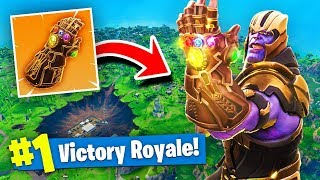 Download *NEW* THANOS INFINITY GAUNTLET GAMEPLAY In Fortnite Battle Royale! Video