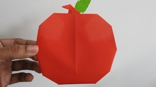 Download How to make an Origami Apple easily ~ Fruit Paper Craft ~ Kids Craft ~ 'A' For Apple ~Tutorial... Video