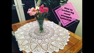 Download How to crochet big round pineapple tablecloth Part 1 of 4 Video