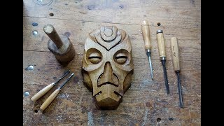 Download Carving A Dragon Priest Mask Out Of Walnut Video