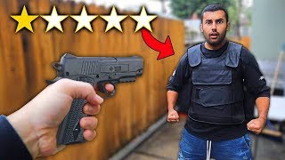 Download I Bought The WORST Rated BULLET PROOF Vest On WISH!! (1 STAR) Video