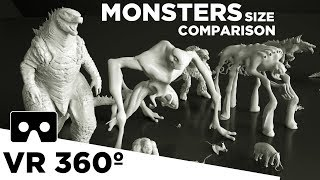 Download Monsters Size Comparison VR 360 (Movies) 👹 Video