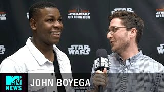 Download What Does John Boyega Think About Finn/Poe Fanfiction? | MTV News Video