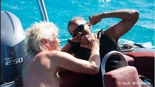 Download See Obama school Richard Branson in kite surfing Video