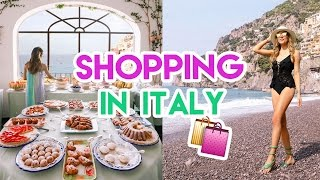 Download Shopping in ITALY! | Amelia Liana Travel Vlog Video