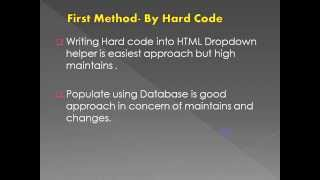 Download Populate DropDown List using Entity Framework Code First Approach Video