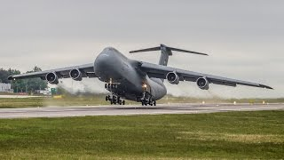 Download Insane Screamer | USAF - Lockheed C-5B Galaxy incredible SHORT take off from Gdansk Airport !! Video