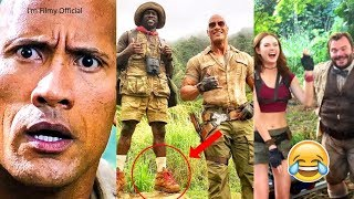 Download Jumanji 2 - Hilarious Behind the Scenes - Try Not To Laugh with Kevin Hart & The Rock - 2017 Video