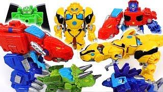 Download Transformers Rescue bots dinosaur transform! Go! Optimus Prime, Bumblebee, Chase! - DuDuPopTOY Video