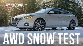 Download 2019 Nissan Altima AWD Explained and Snow Test #drivingsportstv Video