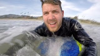 Download FIRST TIME ON A SURFBOARD! Video