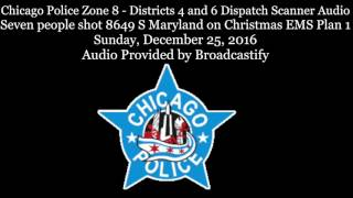 Download Chicago Police Scanner Audio mass shooting Seven people shot on Christmas Video