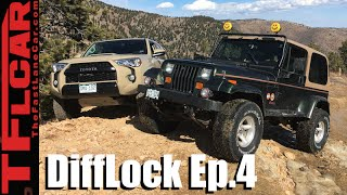 Download 2016 Toyota 4Runner TRD Pro vs 1995 Jeep Wrangler vs Gold Mine Hill: DiffLock Ep.4 Video