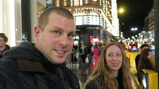 Download Harrods getting there + Christmas Shop Windows + lights London Video