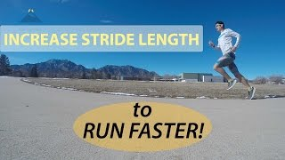 Download HOW TO INCREASE STRIDE LENGTH FOR SPEED! FASTER RUNNING TECHNIQUE EXERCISES Video