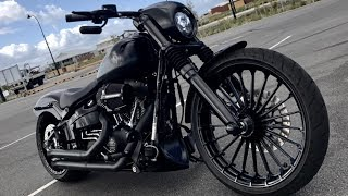 Download Harley-Davidson FXSB Breakout Black Matt Custom (Stringer from Australia) Video