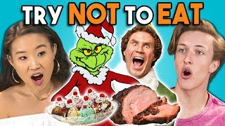 Download Try Not To Eat Challenge - Holiday Movies | Teens & College Kids Vs. Food Video