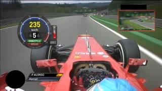 Download On board Fernando Alonso GP Belgium SPA F1 2013 Video