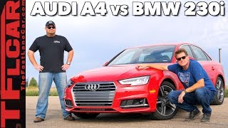 Download Audi A4 vs BMW 230i 0-60 Mashup Review: 2.0L vs 2.0L in Different Cars Video