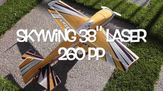 Download Skywing 38″ pp Laser 260 Build and Maiden Video
