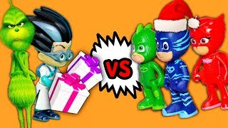 Download PJ Masks and Paw Patrol VS Romeo and the Grinch takes Christmas Gifts with Puppy Dog Pals Video