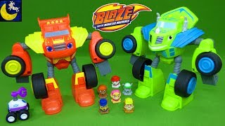 Download Awesome Blaze and Monster Machines Toys - Robot Riders Watts Zeg Paw Patrol Mashems Teenies Video