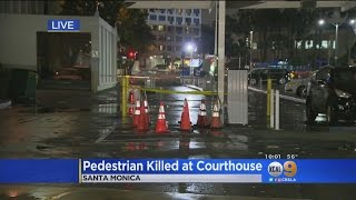 Download Man Hit, Killed While Paying For Parking Outside Santa Monica Courthouse Video