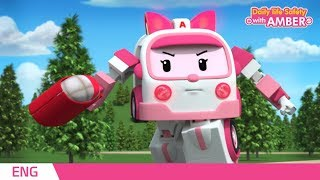 Download 🚨 Daily life Safety with AMBER   EP 01   Robocar POLI   Kids animation Video